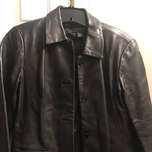 Jackets & Blazers - Ann Taylor leather spring jacket